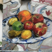 Painted Still Life With Fruit